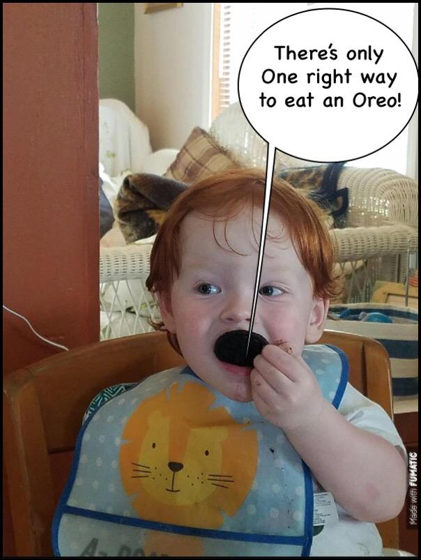 Eating Oreos