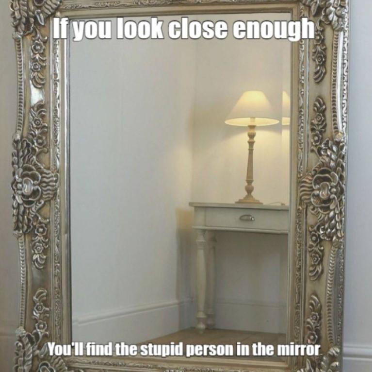 Your dumb mirror