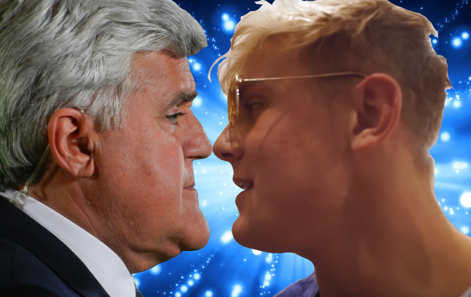 JAKE PAUL AND JAY LENO BEST MEME EVER  MEET FACE TO FACE AND THE UNTHINKABLE HAPPENS