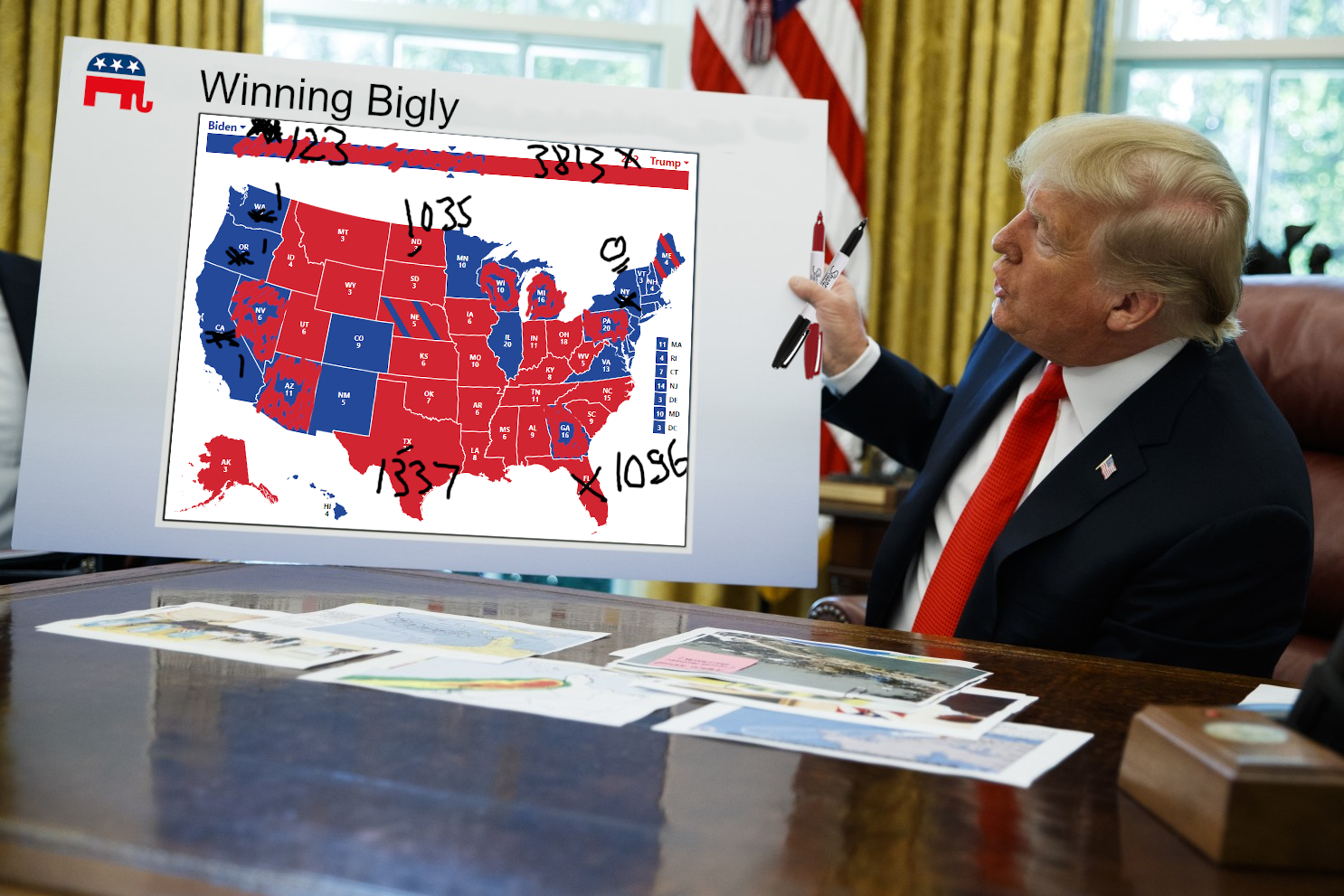 Trump Revised Election Map