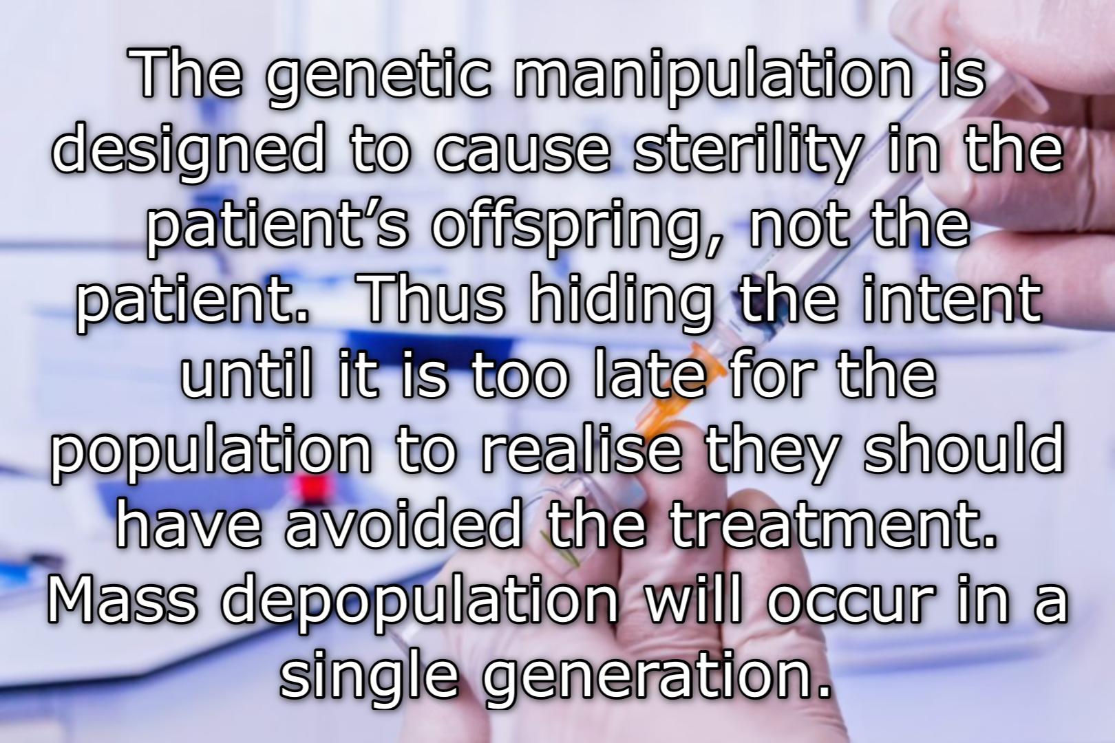 Depopulation through sterilisation