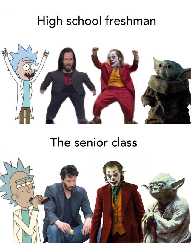 High school freshman vs high school seniors