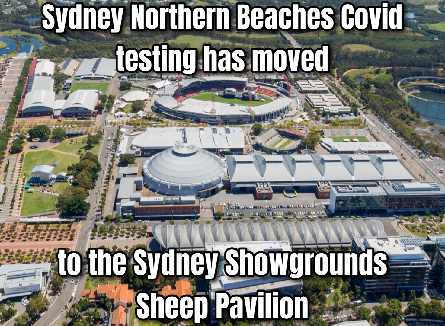 Covid testing relocated to Sheep Pavilion
